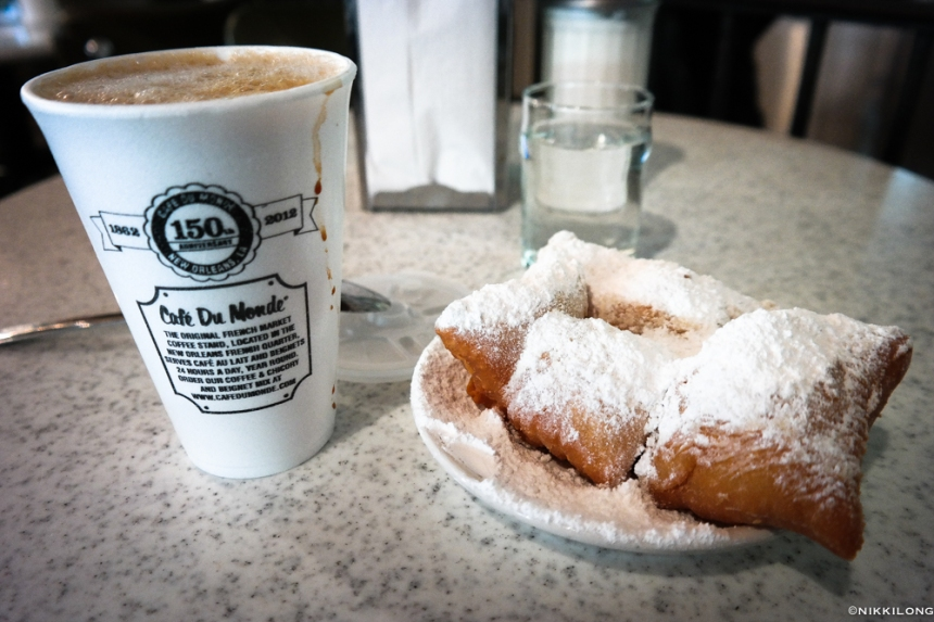Latte and Beignets