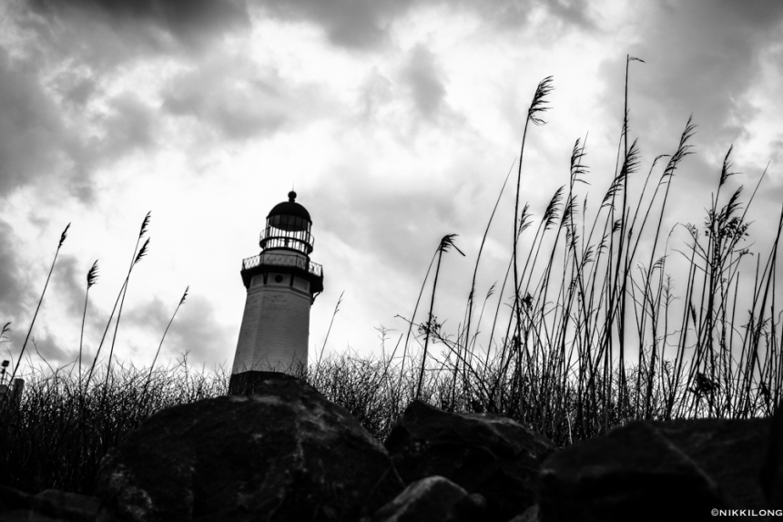 Montauk Lighthouse B&W Abstract